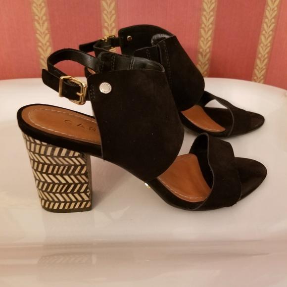 74a1564f662 Carrrano Shoes - Carrano Suede Block Heel Sandals